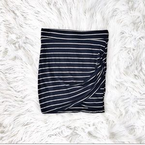 Zara striped jersey skirt